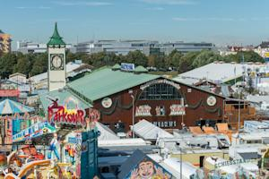 The Oktoberfest grounds ahead of its opening on Sa …