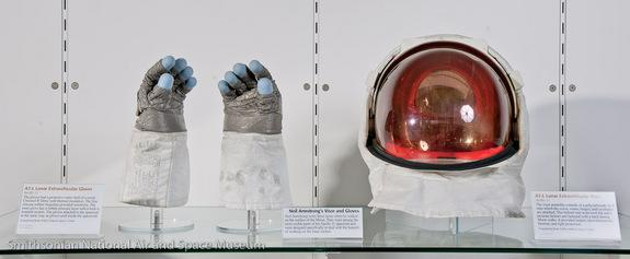Neil Armstrong's Gloves and Visor on Rare Display at Smithsonian