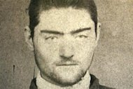 A photograph of a police mugshot of Ned Kelly, aged 16, at the Old Melbourne Gaol, March 13, 2008. REUTERS/Old Melbourne Gaol/Handout