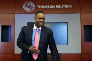 Detroit's emergency manager Kevyn Orr arrives for an interview with Thomson Reuters in New York