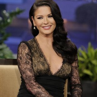 Catherine Zeta-Jones seen during an interview on &#39;The Tonight Show&#39; on January 28, 2013