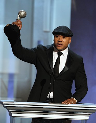 "LL Cool J accepts the award for outstanding actor in a drama series for ""NCIS: Los Angeles"" at the 44th Annual NAACP Image Awards at the Shrine Auditorium in Los Angeles on Friday, Feb. 1, 2013. (Photo by Matt Sayles/Invision/AP)"