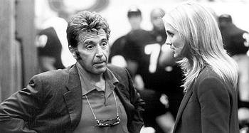 Al Pacino and Cameron Diaz in Warner Brothers' Any Given Sunday