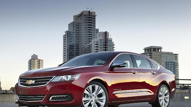 This undated photo provided by Chevrolet shows the 2014 Chevrolet Impala LTZ. A completely reworked version of the full-size car has taken Consumer Reports magazine's top spot for all sedans, deposing German and Japanese cars for the first time in at least 20 years. (AP Photo/Chevrolet)