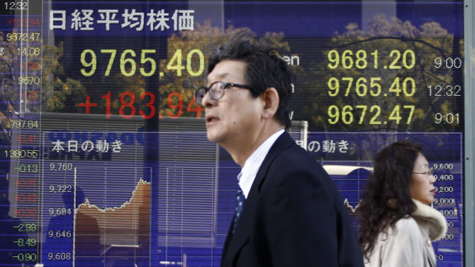 World stocks higher as China factory output grows