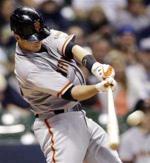 Posey homers in Giants 6-4 win over Brewers