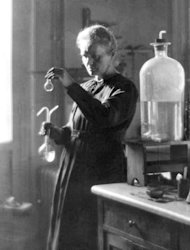 This 1925 file photo shows Professor Marie Curie works in her laboratory at the University of Paris. The Polish-born genius, her husband Pierre, their daughter Irene and son-in-law Frederic Joliot were colossuses of physics and chemistry, between them notching up five Nobel prizes in just over three decades
