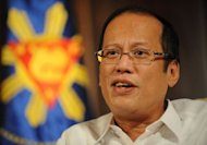 The Philippines on Tuesday said the deployment of US spy planes, suggested by President Benigno Aquino, pictured in March 2012, was just one option to monitor the country's territory, as China appealed for stability in the region