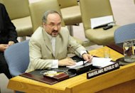 Iranian Ambassador to the UN Mohammad Khazaee, pictured in 2010. Iran&#39;s UN envoy on Wednesday accused Israel of staging a suicide bomb attack on an Israeli tourist bus in Bulgaria