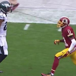 Washington Redskins wide receiver DeSean Jackson's first play back in Philly