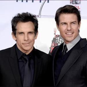 Tom Cruise Supports Ben Stiller At His Hand & Footprint Ceremony!