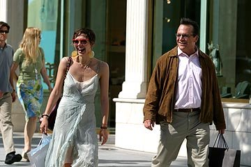 Maggie Gyllenhaal as Jade and Tom Arnold as Frank in Lions Gate's Happy Endings
