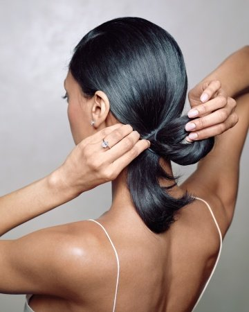 Create a Low Ponytail