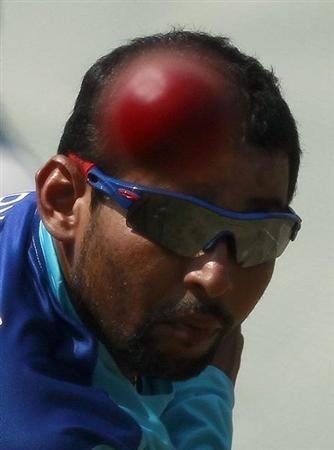 Sri Lanka's Dilshan bowls during a practice session ahead of their second test cricket match against England in Colombo