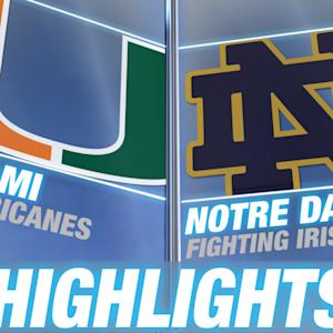 Miami vs Notre Dame | 2015 ACC Women's Tournament Highlights