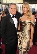George Cloooney and Stacy Keibler arrive at the 84th Annual Academy Awards held at the Hollywood & Highland Center in Hollywood on February 26, 2012 -- WireImage