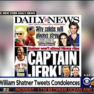 'Captain Jerk!': Shatner Receives Harsh Criticism After Being Unable To Attend Nimoy's Funeral