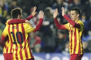 Hat-trick hero Tello hails 'spectacular' Messi