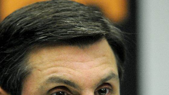 Tennessee head football coach Derek Dooley gives a news conference on Monday, Nov. 12, 2012, at the UT campus in Knoxville, Tenn. Dooley said that he hasn't been told whether the Volunteers plan to remove him at the end of the season, contrary to reports suggesting such a move was inevitable. (AP Photo/Knoxville News Sentinel, Michael Patrick)