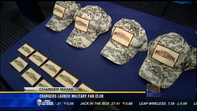 Chargers launch military fan club