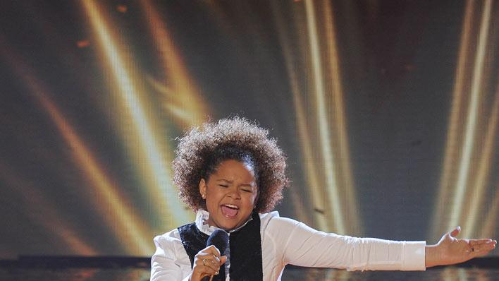 "Rachel Crow performs ""I Believe"" by Yolanda Adams on ""The X Factor."""