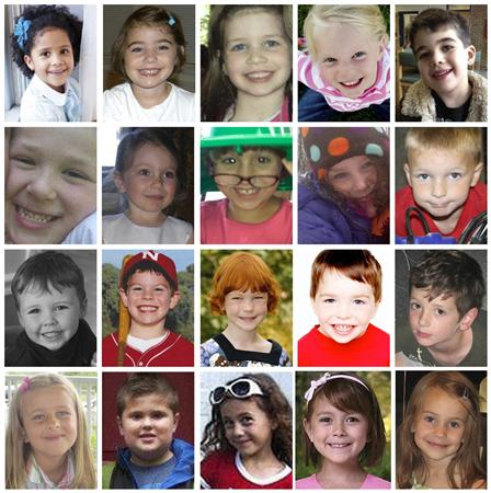 Child victims of the Sandy Hook Elementary School shootings in Newton