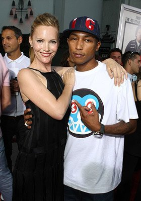 Leslie Mann and Pharrell Williams at the Los Angeles premiere of Columbia Pictures' Superbad