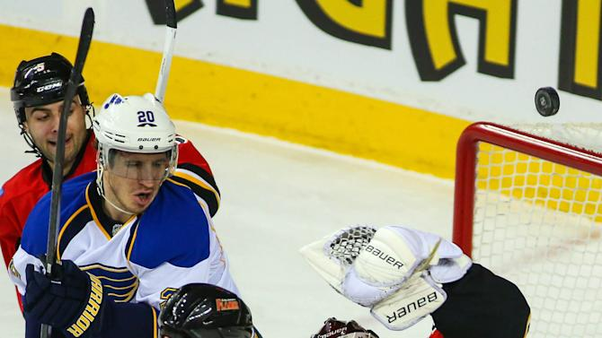 NHL: St. Louis Blues at Calgary Flames