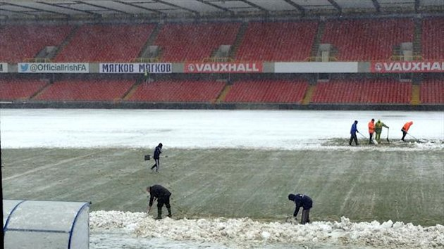 The adverse weather left the Windsor Park pitch unplayable at the weekend