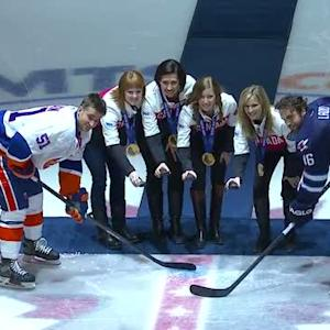 Jets honor the Canadian Women's Curling team