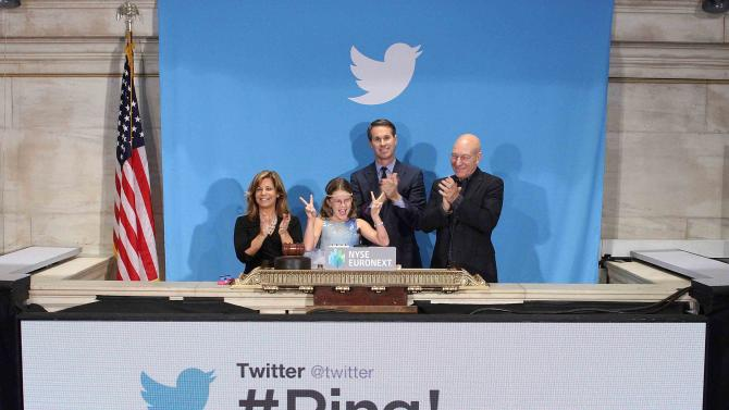 Handout of Patrick Stewart,NYSE Executive Vice President and Head of Global Listings Cutler, Vivienne Harr and Cheryl Fiandaca ringing the opening bell at the New York Stock Exchange in New York