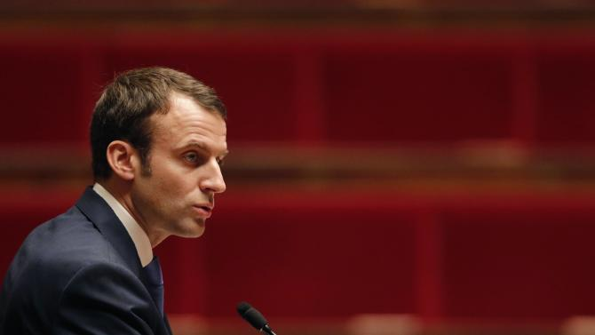 French Economy Minister Emmanuel Macron attends a debate at the National Assembly in Paris