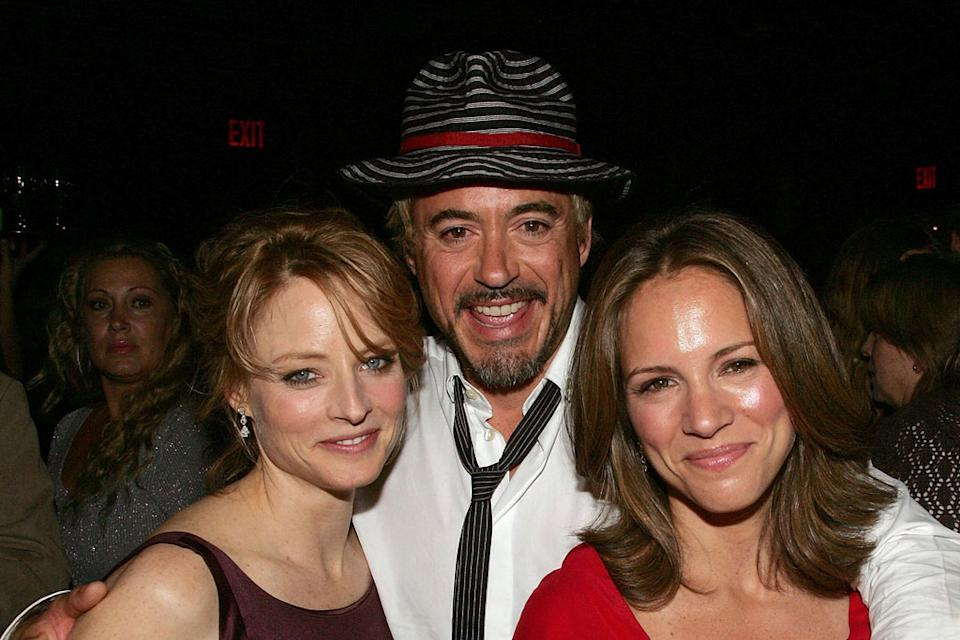 Robert Downey Jr Jodie Foster Susan Downey 2007