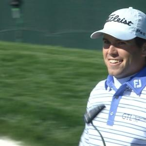 Ben Martin flashes a big grin on No. 16 at Waste Management