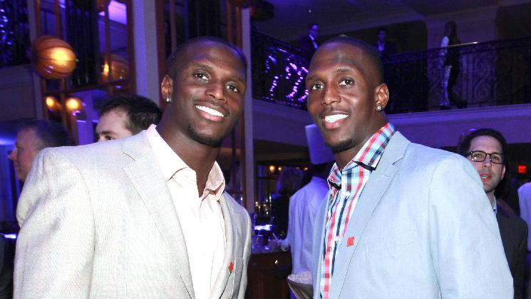 IMAGE DISTRIBUTED FOR NFLPA - Jason McCourty, left,  of the Tennessee Titans and Devin McCourty of the New England Patriots are seen at the VIP Reception hosted by the NFLPA, on Thursday, Jan. 31, 2013 in New Orleans. (Photo by Dario Cantatore/Invision for NFLPA/AP Images)
