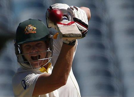 Australia's Smith plays a shot during the second day of the fourth Ashes cricket test against England at the Melbourne cricket ground