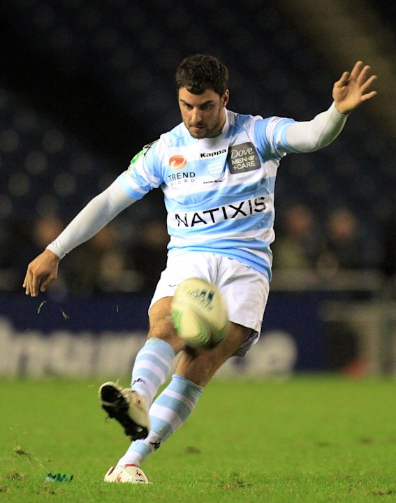 Racing Metro's Jonathon Wisiewwski of France, in action against Edinburgh, during the Heineken Cup rugby union match at Murrayfield in Edinburgh, Scotland, Friday Nov, 18, 2011. (AP Photo / Lynne Came
