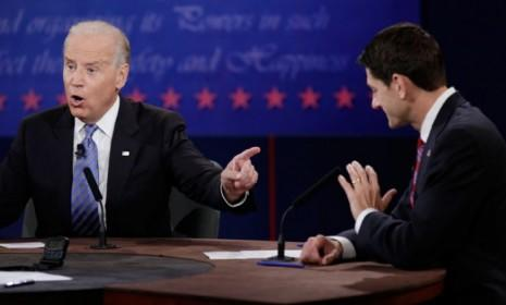 Vice President Joe Biden was the clear aggressor throughout much of his debate with Paul Ryan.