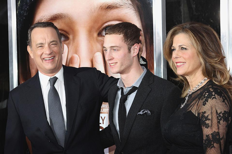 Extremely Loud and Incredibly Close 2011 NY Premiere Tom Hanks Chester Hanks Rita Wilson