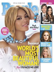 Beyonce Knowles on the cover of People's Most Beautiful 2012 issue -- People