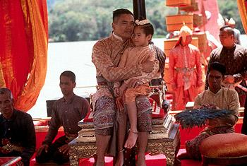 Chow Yun-Fat as King Mongkut and Melissa Campbell as Princess Fa-Ying in 20th Century Fox's Anna And The King