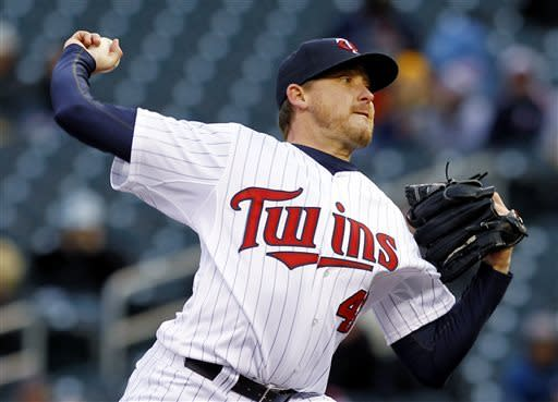 Mauer, Twins power way past Blanton, Angels 8-2