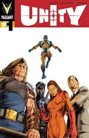 "This photo released by Valiant Entertainment shows the cover of ""Unity"" which melds Valiant's roster of heroes as a force of one to not just thwart the powerful X-O Manowar, but to break him and, maybe, free a country, too. For Valiant Entertainment, ""Unity"" is the next step expanding the universe that found life and sales in the 1990's, faded out and reborn anew in 2011 to acclaim. (AP Photo/Valiant Entertainment)"