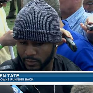 Cleveland Browns running back Ben Tate: 'We don't want nice'