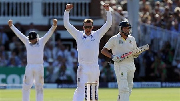 Graeme Swann was the pick of the England bowlers with five for 44