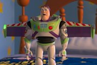 Buzz looking hugely impressed at the end of 'Toy Story 2'.