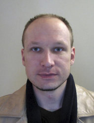 FILE - This 2009 file image issued by Norwegian police on Oct. 28, 2011, shows confessed mass killer Anders Behring Breivik in a passport photo. The forensic psychiatrists who evaluated the mental state of confessed mass killer Anders Behring Breivik have handed over their assessment to a Norwegian court Tuesday Nov. 29, 2011. The report will help determine whether the 32-year-old right-wing extremist can be held criminally liable for a bomb-and-shooting massacre in which 77 people were killed on July 22. (AP Photo/Norwegian Police via Scanpix Norway, File) NO SALES