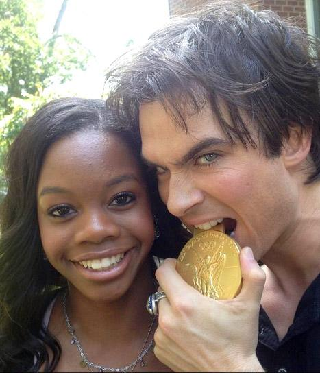 Gabby Douglas Meets Her Celebrity Crush Ian Somerhalder!