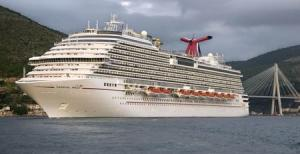 File photo of the the Carnival Magic cruise ship departing…
