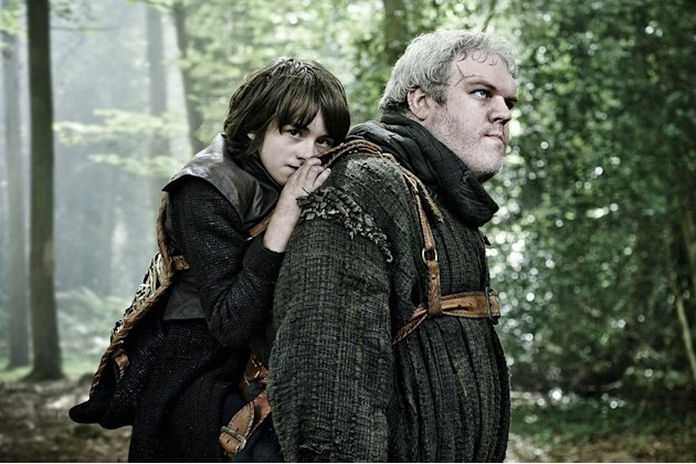 "Kristian Nairn as Hodor and Issac Hempstead-Wright as Bran Stark in ""Game of Thrones."""
